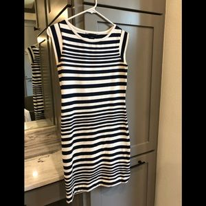 Navy and White striped French connection dress!